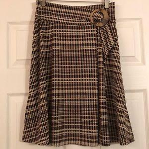 New York & Company Pull-On Geometric Skirt - S